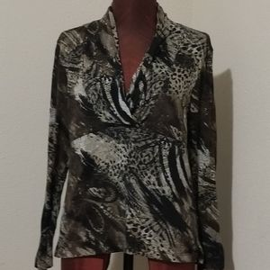 3for$20 Investments, black/brown tunic